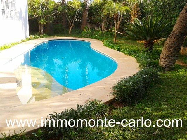 Location villa meublée avec piscine Hay Riad Rabat