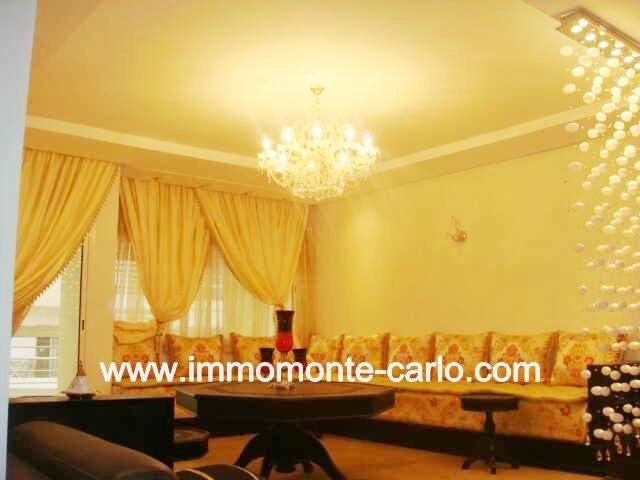 Location magnifique appartement meublé à HAY RIAD RABAT