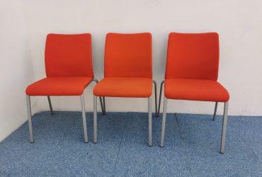 Ensemble chaise visiteur Steelcase promo Orange empilable