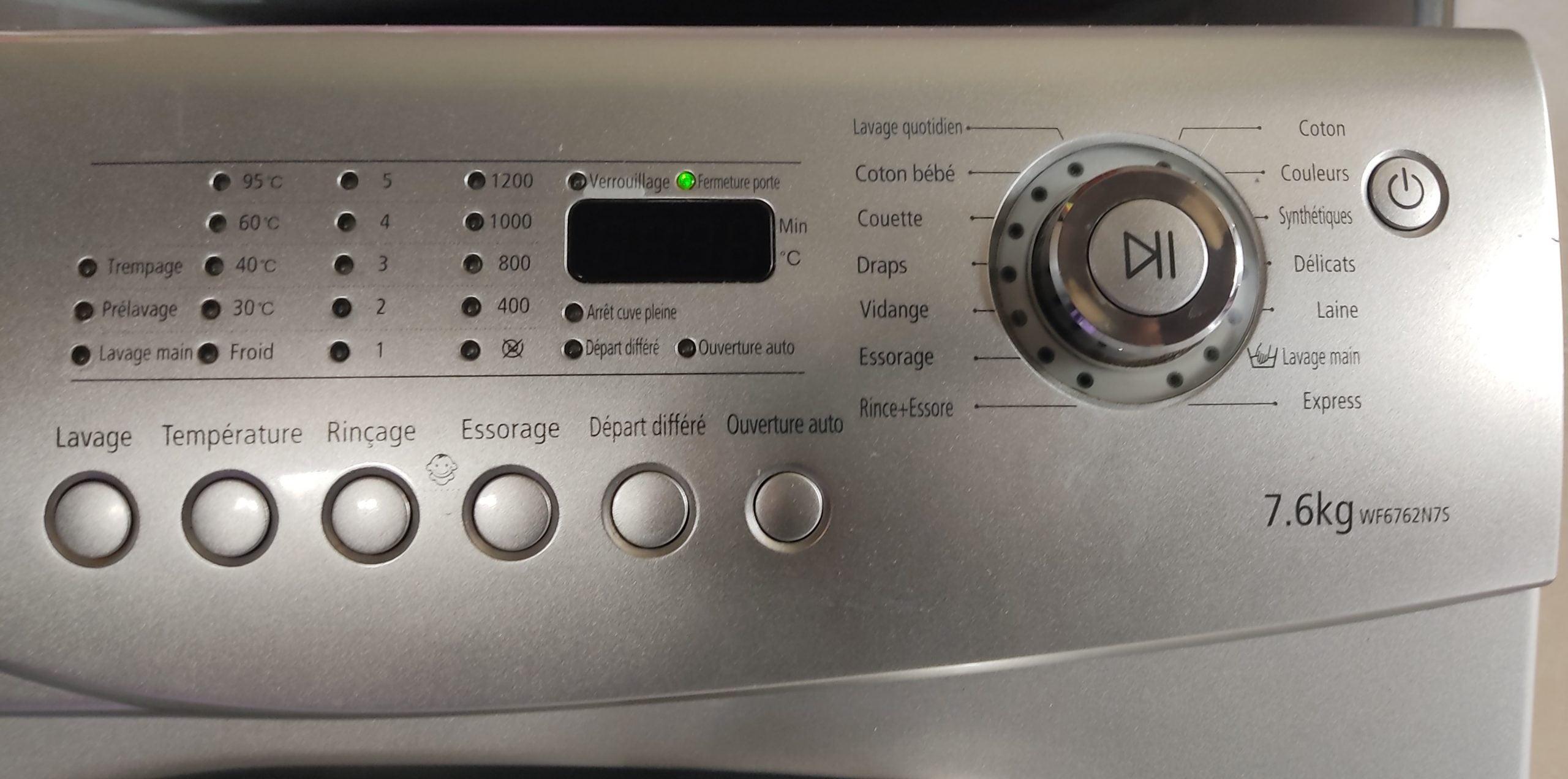 Machine à laver Samsung 7,6 Kg 1200