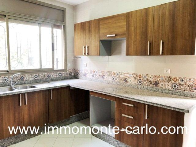 Villa refaite à neuve à louer à Hay Riad Rabat Maroc