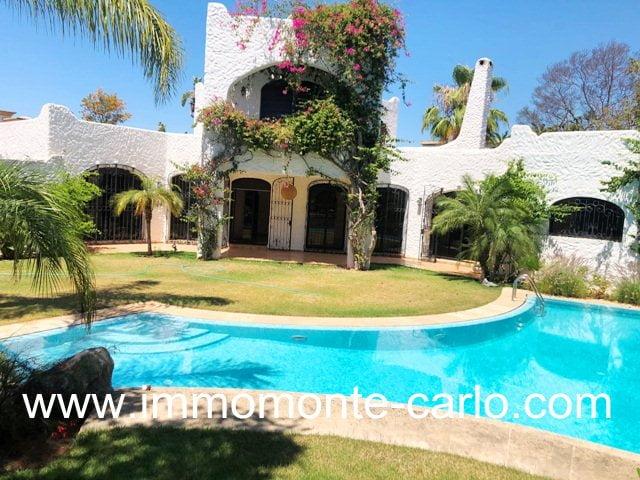 Jolie villa avec piscine à louer à Hay Riad Rabat