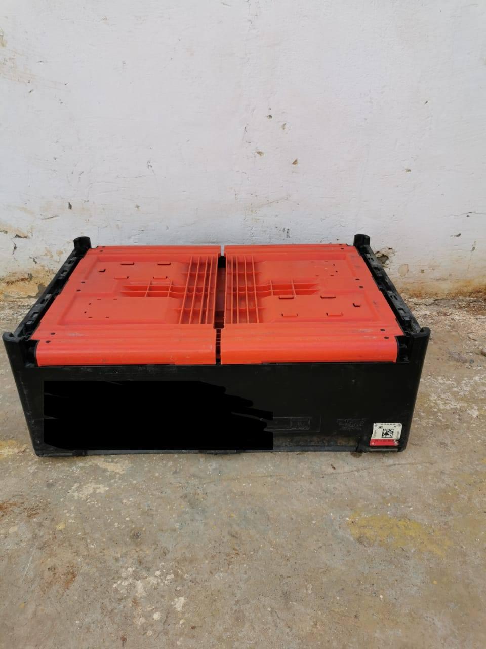 Palox palette en plastique caisse 120x80x100cm empilable et pliable
