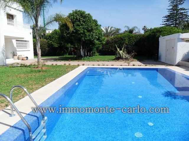 Villa avec chauffage et piscine à louer au quartier  Souissi RABAT