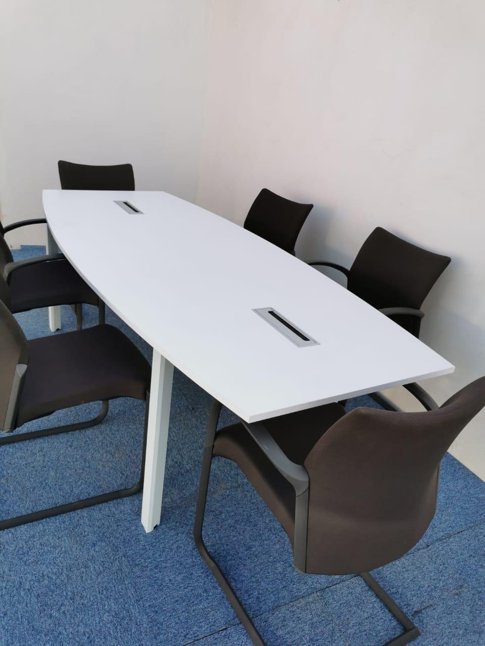 TABLE DE RÉUNION 6 PERSONNES 200x100cm