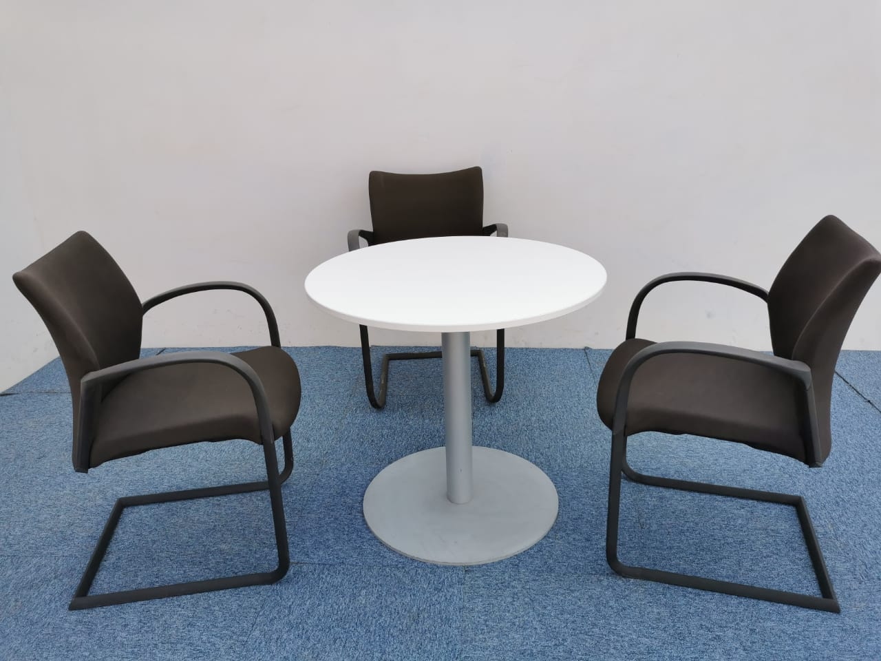 Table ronde blanche 80cm