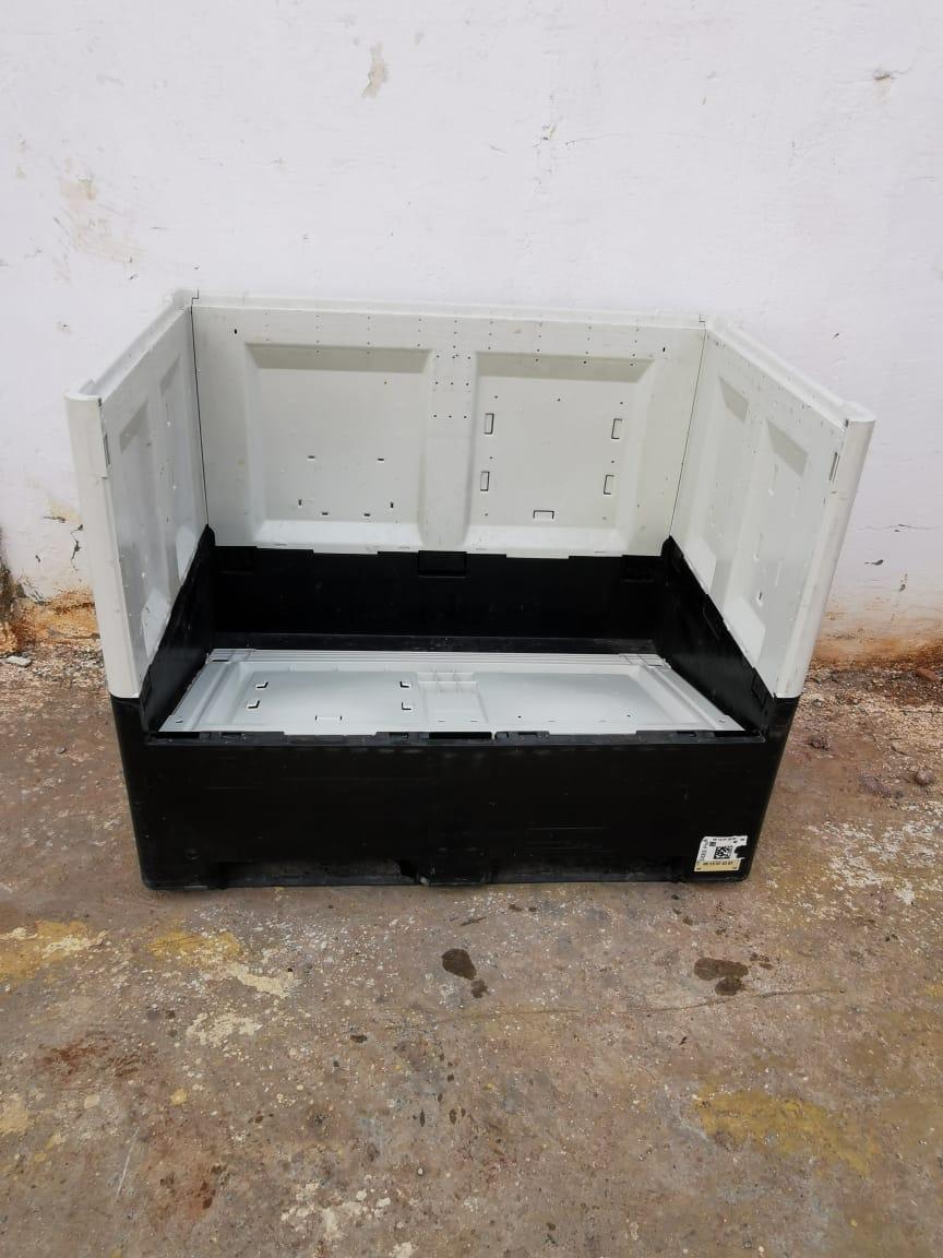caisse plastique palette empilable et pliable 120x80x100cm