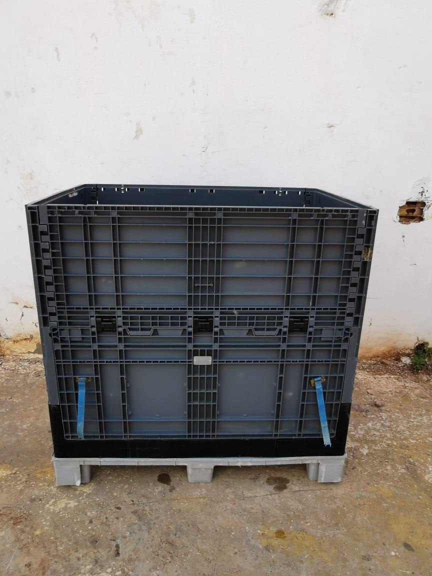 palette en plastique caisse 118x78x115cm empilable et pliable