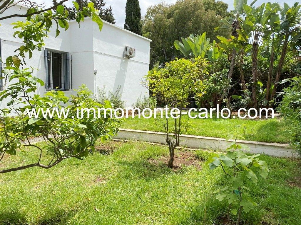 Villa avec jardin à louer proche de lycée Descartes Agdal Rabat