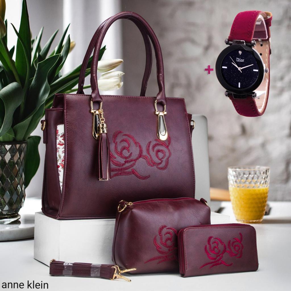 sacs à main 3 pièces avec montre