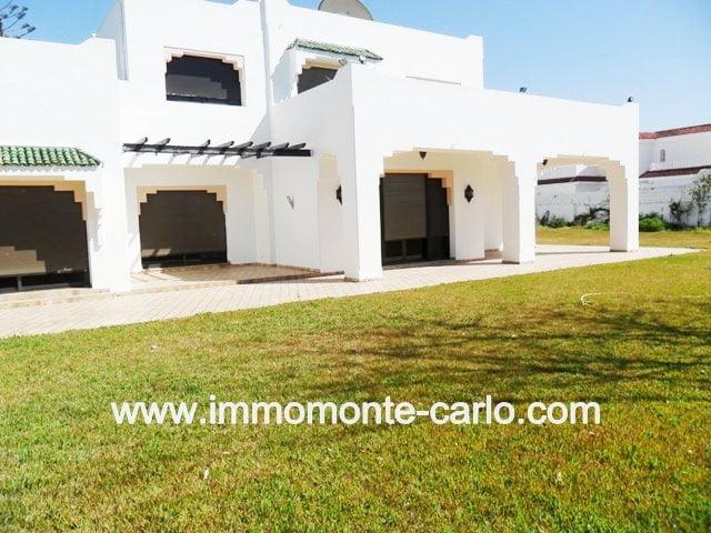 Location belle villa au quartier Souissi à Rabat