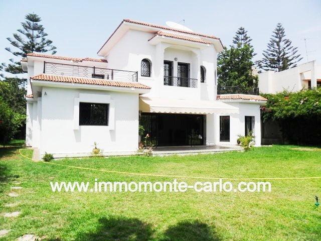 Location d'une belle villa d'architecte à Hay Riad Rabat