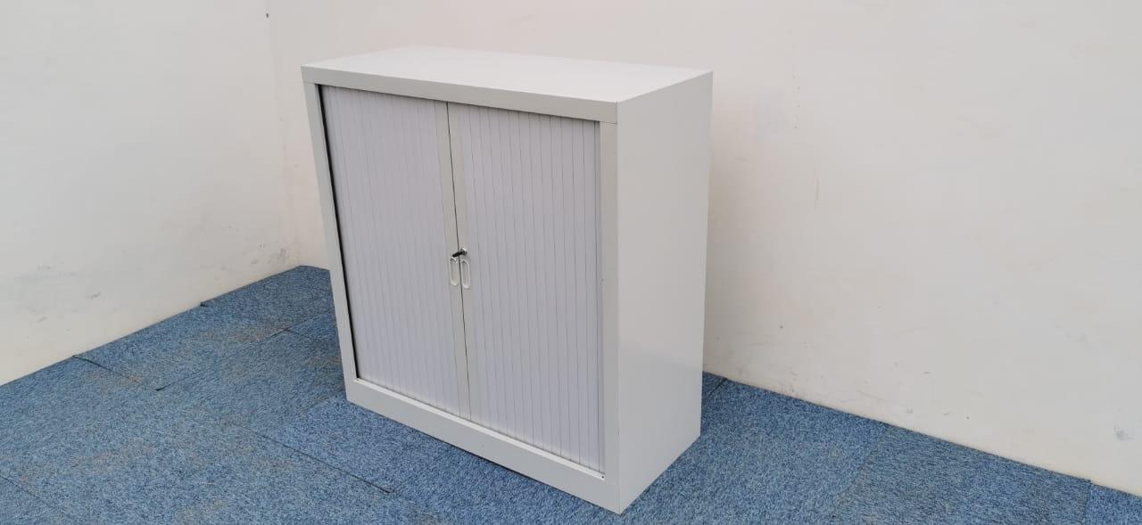Armoire basse blanche 100x100cm
