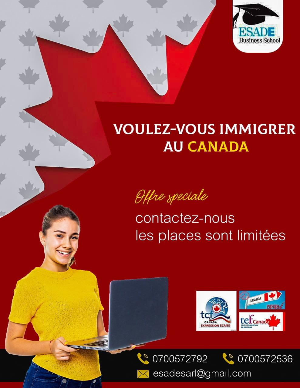 Formation au test pour immigration  au canada