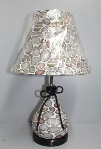 Lampe de Table en cuir imprimé