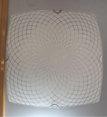 Plafonnier Carré en verre transparent