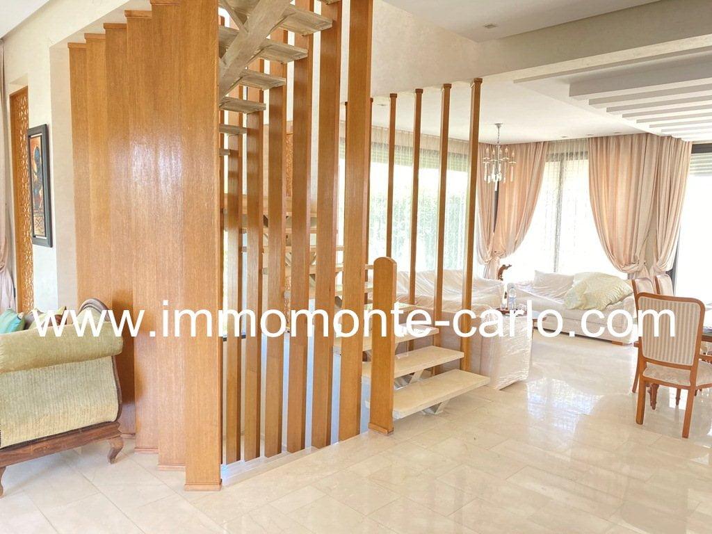 Villa neuve haut standing avec terrasse vue sur mer Harhoura-Rabat