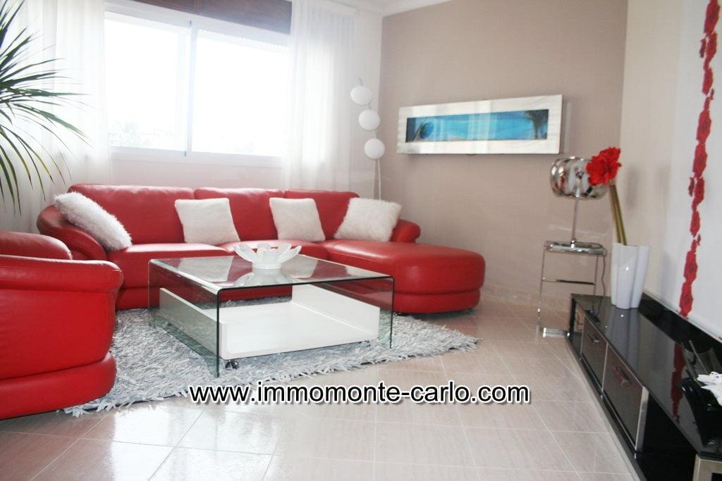 Appartement meublé avec terrasse à louer à Hay Riad