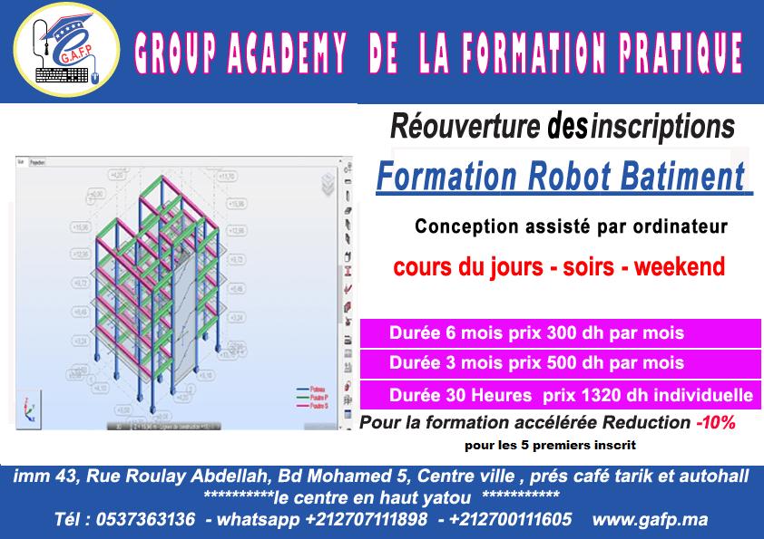 formation logiciel robot bâtiment  génie civile