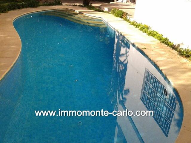 À rabat location villa meublée avec piscine chauffée à Hay Riad