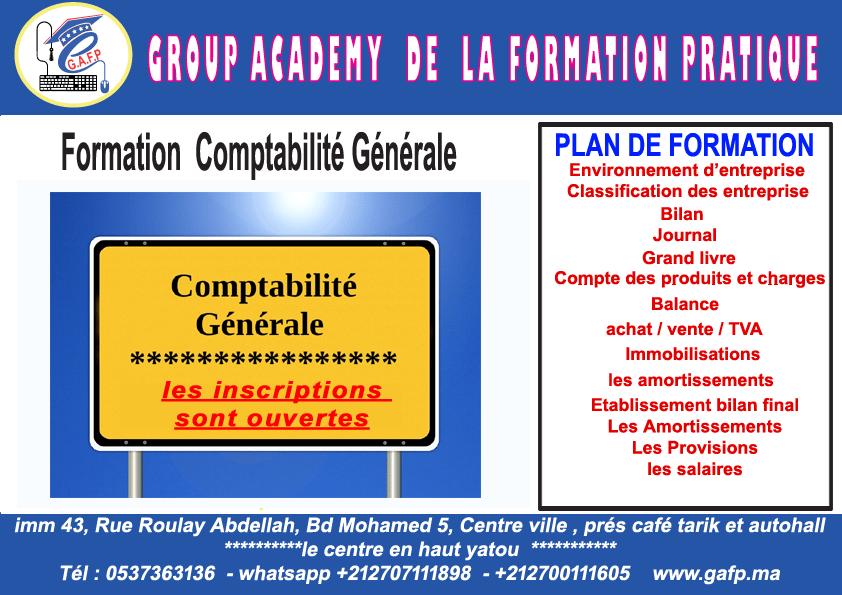Formation Comptabilité générale.