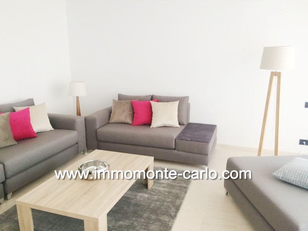 Location Appartement neuf, haut standing et meublé à orangerie souissi rabat