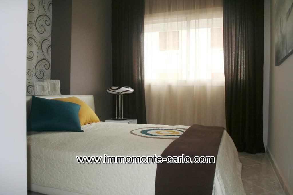 A louer Appartement meublé neuf avec terrasse Orangeraie de Souissi