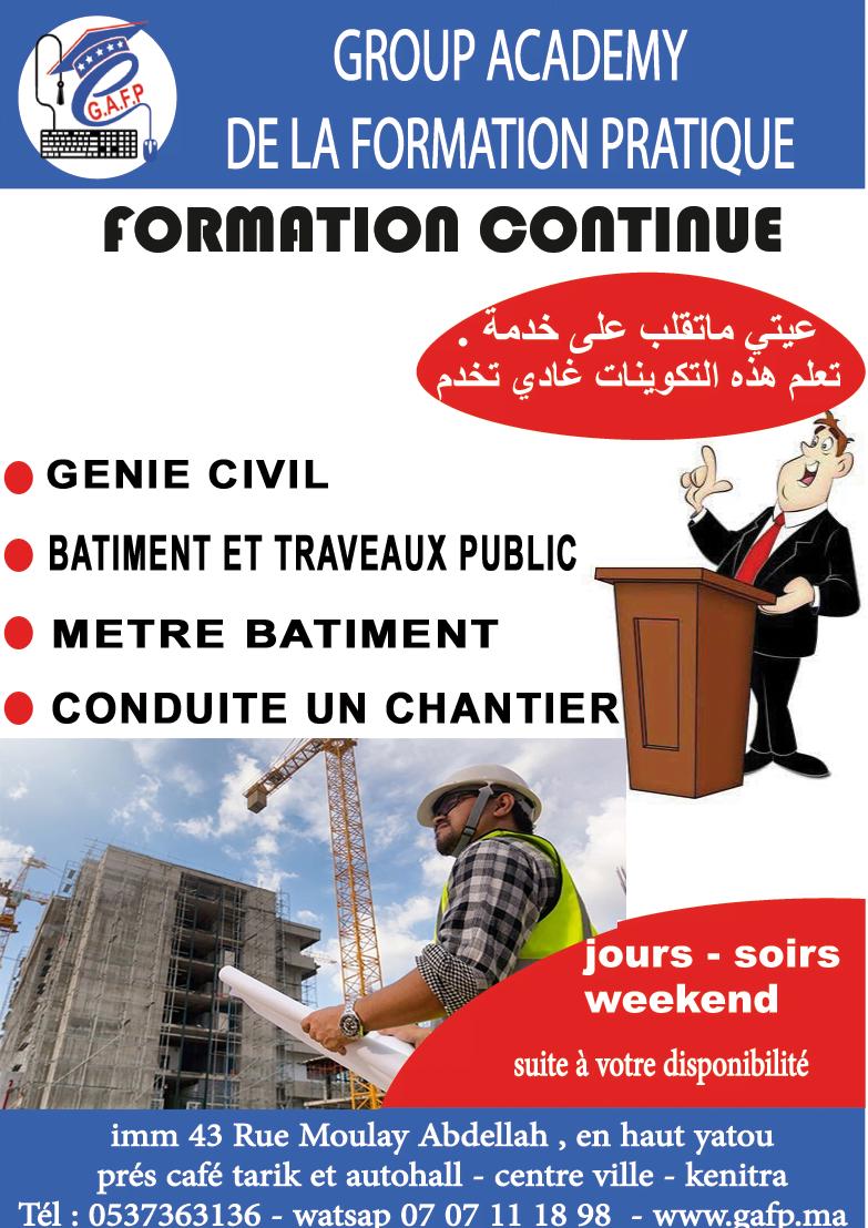génie civil  – conduite de chantier- btp